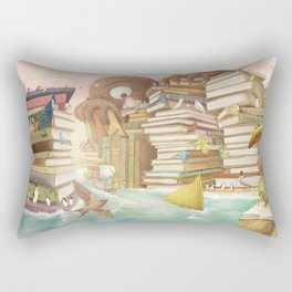 The Library Islands Rectangular Pillow