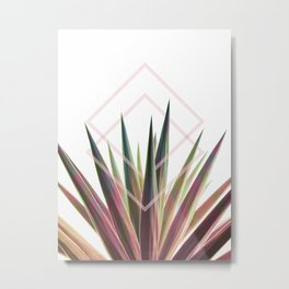 Tropical Desire - Foliage and geometry Metal Print