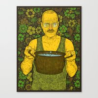 cook Canvas Prints featuring Cook (green) by Lime