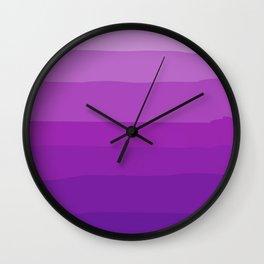 Pretty Purple Gradient Wall Clock