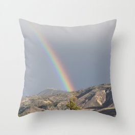 This way to the Rainbow Throw Pillow