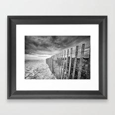 Ocean City Sand Dune Fence Framed Art Print