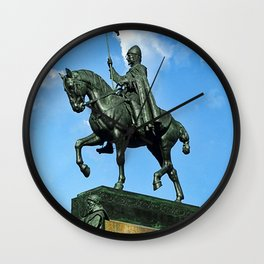 Prague Good King Vaclav Wall Clock