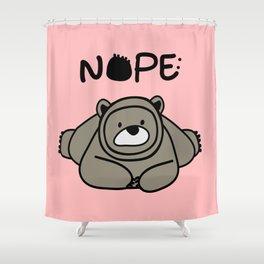 NOPE polar bear Shower Curtain