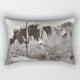 Saguaro in black and white Rectangular Pillow