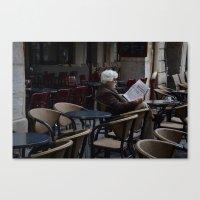 men Canvas Prints featuring Men by Am sans col ni cravate