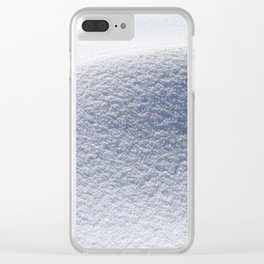 Snow minimalism Clear iPhone Case