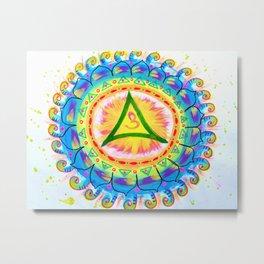 Ajna Chakra Mandala Metal Print