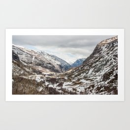 Norwegian heights Art Print