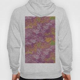 Japanese pattern floral purple Hoody