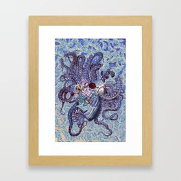 the depth anatomical heart collage by bedelgeuse Framed Art Print