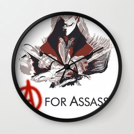 A for Assassin Wall Clock
