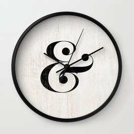 Ampersand Wall Clock