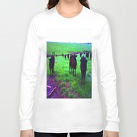 cows Long Sleeve T-shirts featuring Cows by 13th Moon Social Club