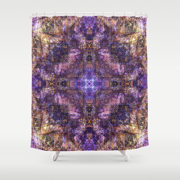 Sandala Purple & Gold Shower Curtain