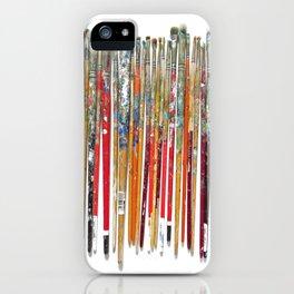 Twenty Years of Paintbrushes iPhone Case