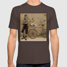 Coyote bicyclist T-shirt