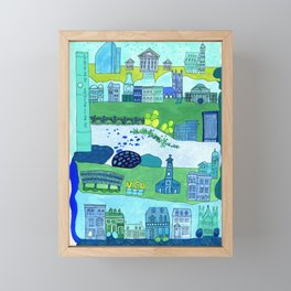 Richmond City Framed Mini Art Print