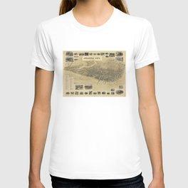Vintage Pictorial Map of Atlantic City NJ (1900) T-shirt