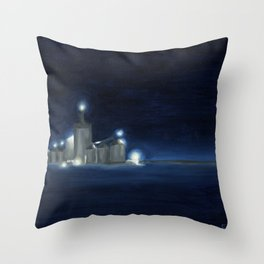 Alberta Silos Throw Pillow