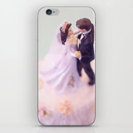 Bride and Groom - bridal shower gift or wedding gift iPhone Skin