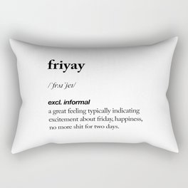 Friyay black and white contemporary minimalism typography design home wall decor bedroom Rectangular Pillow