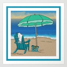 Beach Solitude Art Print