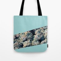 succulents Tote Bags featuring Succulents by Leah Flores