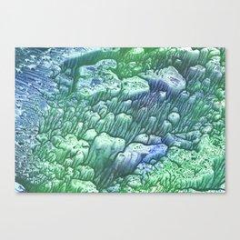 Green monotp Canvas Print