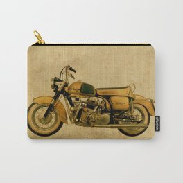 vintage old motorcycle Carry-All Pouch