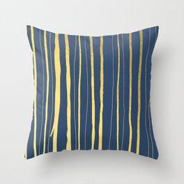Vertical Living Navy and Gold Throw Pillow