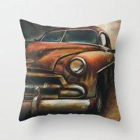 car Throw Pillows featuring Car by Adrianna Grężak