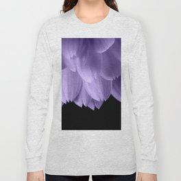 Ultra violet purple flower petals black Long Sleeve T-shirt