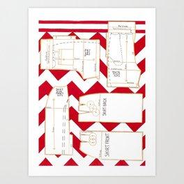 Seaside Stripes Slopers Art Print