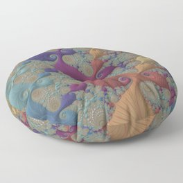 Pastel Parade - Fractal Art  Floor Pillow