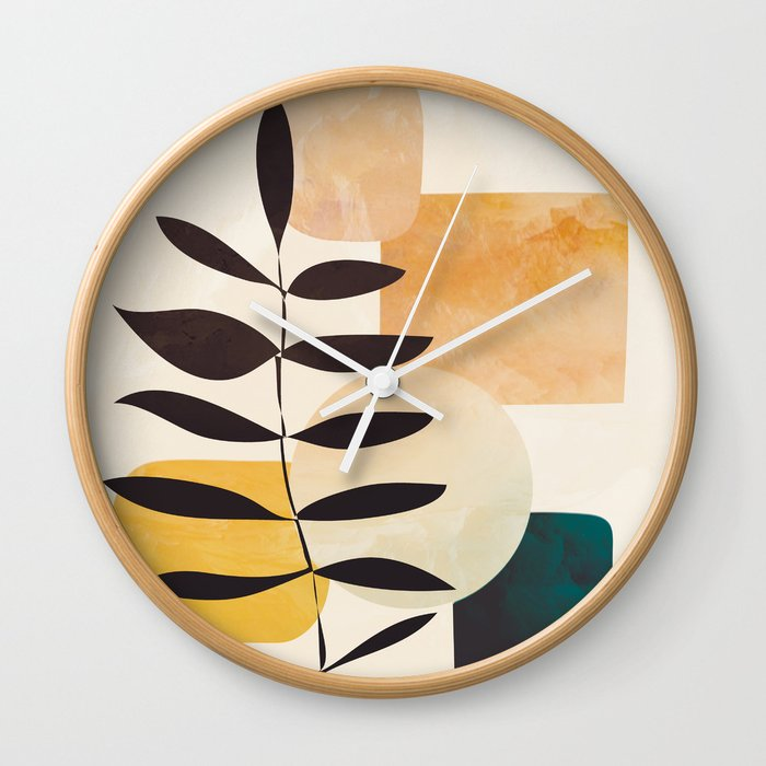 Abstract Elements 20 Wall Clock