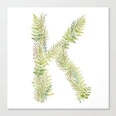 Initial K Canvas Print