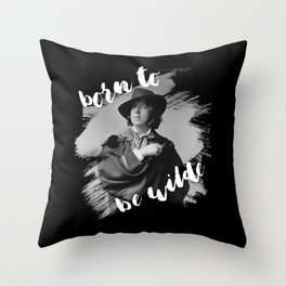 Born to be Wilde Throw Pillow