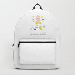 Down Syndrome Awareness In This Family No One Fights Alone Gift Backpack