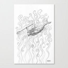 Triton Canvas Print