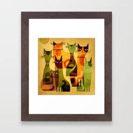 CAT HERD Framed Art Print