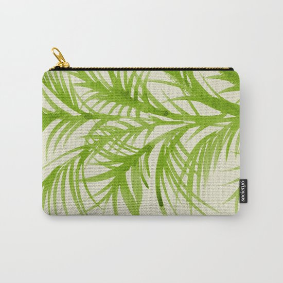 Lime Palms Carry-All Pouch