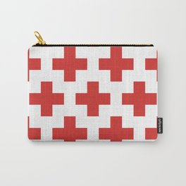 classic retro geometric cross pattern Carry-All Pouch