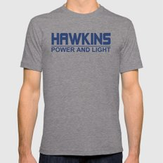 Hawkins Mens Fitted Tee Tri-Grey LARGE