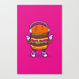 Dancing Burger Canvas Print