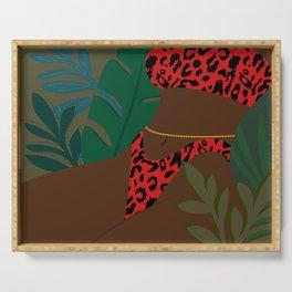 Jungle Fever // Woman, Feminine, Plants, Plant Lady, Nature, Green Serving Tray