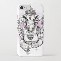 ganesha iPhone & iPod Cases featuring Ganesha by emspressionism