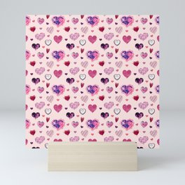 HEARTS Mini Art Print