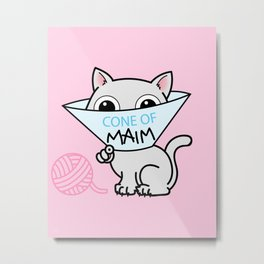 Payback - Cone of Maim - Kitty Cat Shame Metal Print