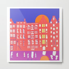 Riding home in Amsterdam Metal Print